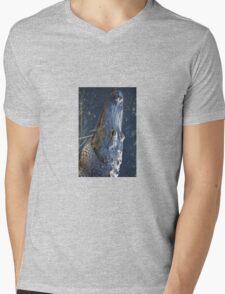 Alligator Head Mens V-Neck T-Shirt