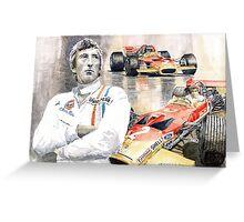 Jochen Rindt Golden Leaf Team Lotus Lotus 49b Lotus 49c Greeting Card