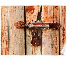 Rusty lock - seen better days! Poster