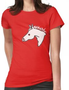 White Pony  T SHIRT Womens Fitted T-Shirt