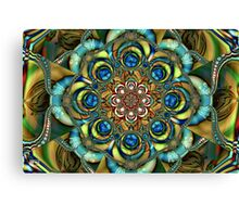 Sapphire Embroidery Canvas Print