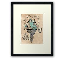The Slippery Twins Framed Print