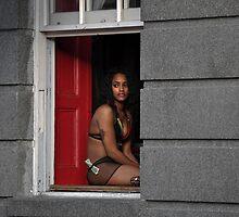 Bourbon Street New Orleans dancer by milton ginos