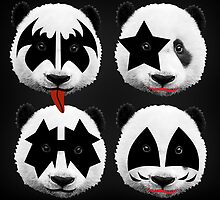 panda kiss  by mark ashkenazi