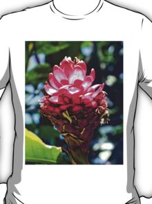 Pink Ginger Tropical Flower Plant T-Shirt