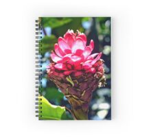 Pink Ginger Tropical Flower Plant Spiral Notebook