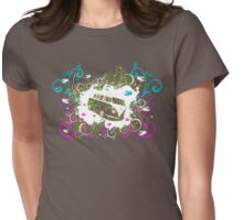 Splitty Swirl Womens Fitted T-Shirt