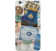 Disneyland memorabilia  iPhone Case/Skin