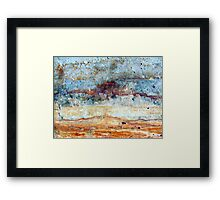 Storm over the Nullarbor Framed Print