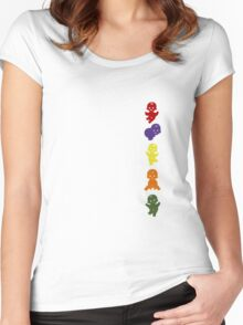 Jelly babies go vertical Women's Fitted Scoop T-Shirt