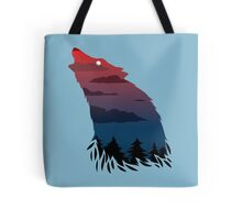 Scary howling wolf Tote Bag