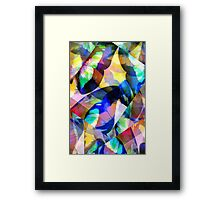 Butterfly-Wing Abstraction in Rainbow Colors #2 – April 5, 2010   Framed Print