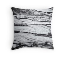 Rural glamour in winter Throw Pillow