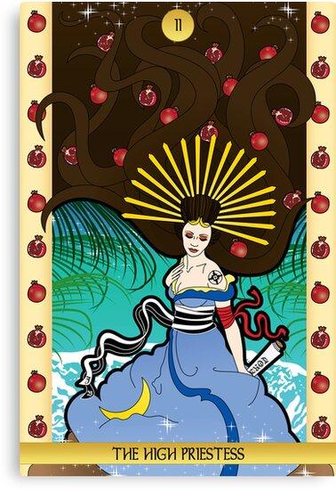 ii The High Priestess by thickblackoutline