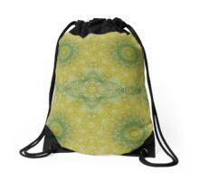 Outdoor pillows-Butter yellow with Cilantro Drawstring Bag