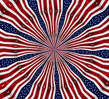 American Flag Kaleidoscope 6 by Rose Santuci-Sofranko
