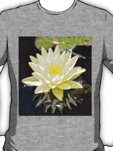 White Water Lily and Dragonfly T-Shirt