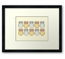 Owl Collection Framed Print