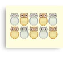 Owl Collection Canvas Print
