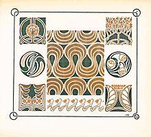 Maurice Verneuil Georges Auriol Alphonse Mucha Art Deco Nouveau Patterns Combinaisons Ornementalis 0019 by wetdryvac