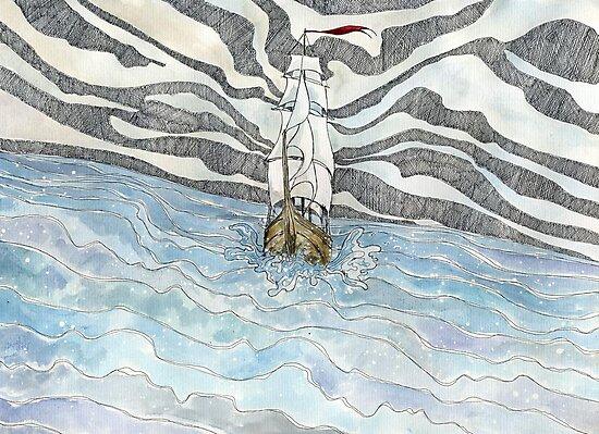 The tall ship by Madzia Bryll