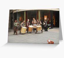 The streets are alive with the sound of music...la la la Greeting Card