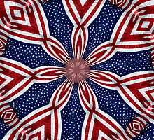 American Flag Kaleidoscope 1 by Rose Santuci-Sofranko