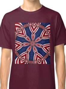 American Flag Kaleidoscope 1 Classic T-Shirt