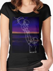 I Reach Toward the Sky Women's Fitted Scoop T-Shirt