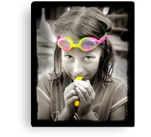 Goggle Girl Canvas Print