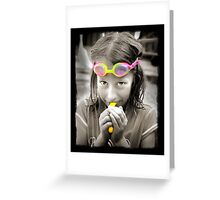 Goggle Girl Greeting Card