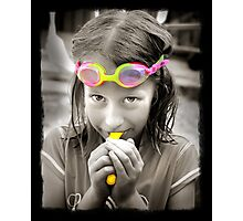Goggle Girl Photographic Print
