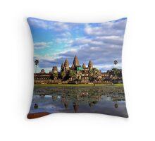 Daytime at Angkor Wat Throw Pillow