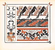 Maurice Verneuil Georges Auriol Alphonse Mucha Art Deco Nouveau Patterns Combinaisons Ornementalis 0024 by wetdryvac