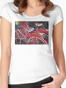 Twins - Bicycle Art By Sharon Cummings Women's Fitted Scoop T-Shirt