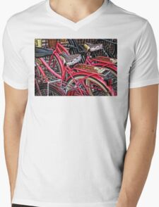 Twins - Bicycle Art By Sharon Cummings Mens V-Neck T-Shirt