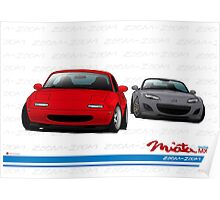 Mazda MX-5 Miata NA and NC Poster