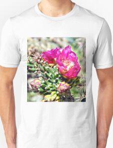 Fuscia Pink Cactus Flower Bloom T-Shirt