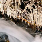 Icicles over a waterfall by Rachel Slater