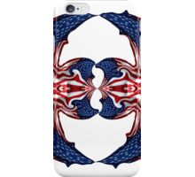 American Flag Polar Coordinate Abstract 1 iPhone Case/Skin