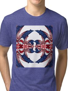 American Flag Polar Coordinate Abstract 1 Tri-blend T-Shirt