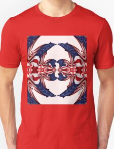 American Flag Polar Coordinate Abstract 1 Unisex T-Shirt