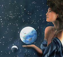 """""""Miss Universe"""" Water Color Airbrush by John D Moulton"""