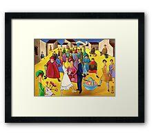 WEDDING IN PLAZA Framed Print