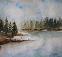 Frozen Lake by Vicki James