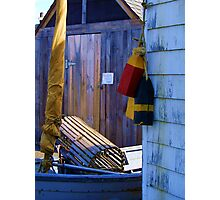 Lobster Trap and Buoys Photographic Print
