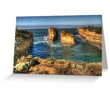 Six Degrees of Separation #3- Loch Ard Gorge - Great Ocean Road - The HDR Experience Greeting Card