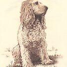 """""""Josie"""" Color Pencil Art Work by John D Moulton"""