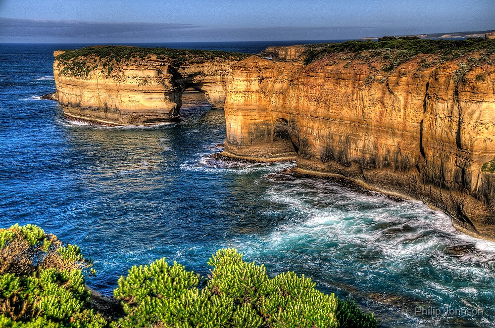 Weathered By Time - Great Ocean Road , Victoria , Australia - The HDR Experience by Philip Johnson