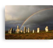 Rainbow over Callanish Stones Canvas Print